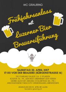 Frühjahrsanlass @ Brauerei Luzerner Bier